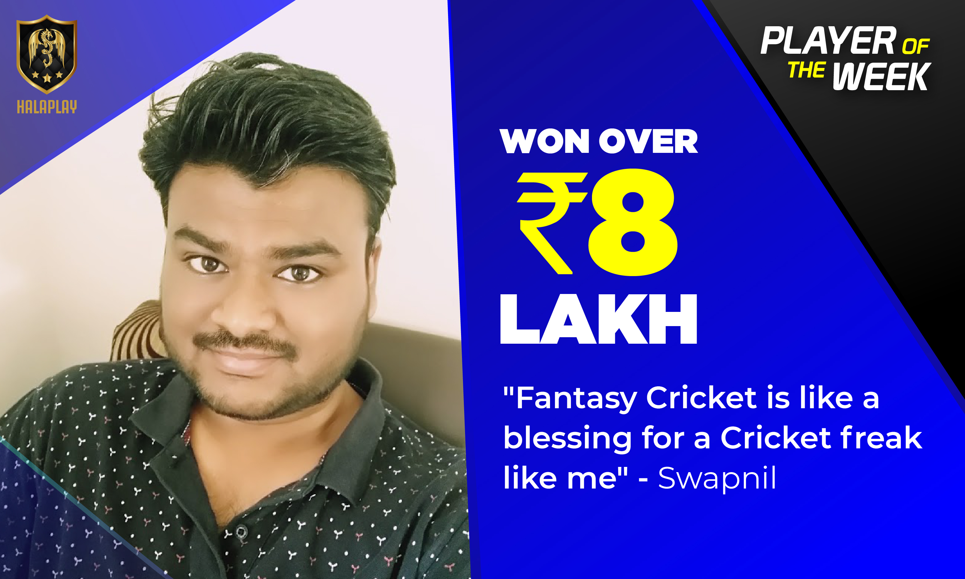 Love for cricket has rewarded me with over ₹8 Lakh on HalaPlay