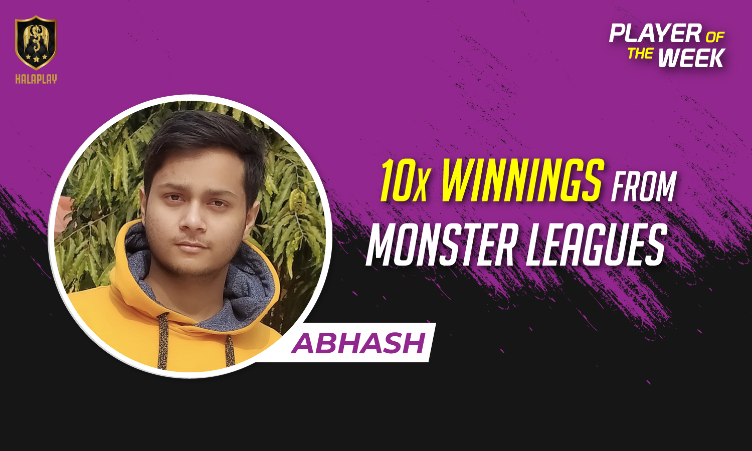 Abhash Singh, a HalaPlay fantasy sports player.