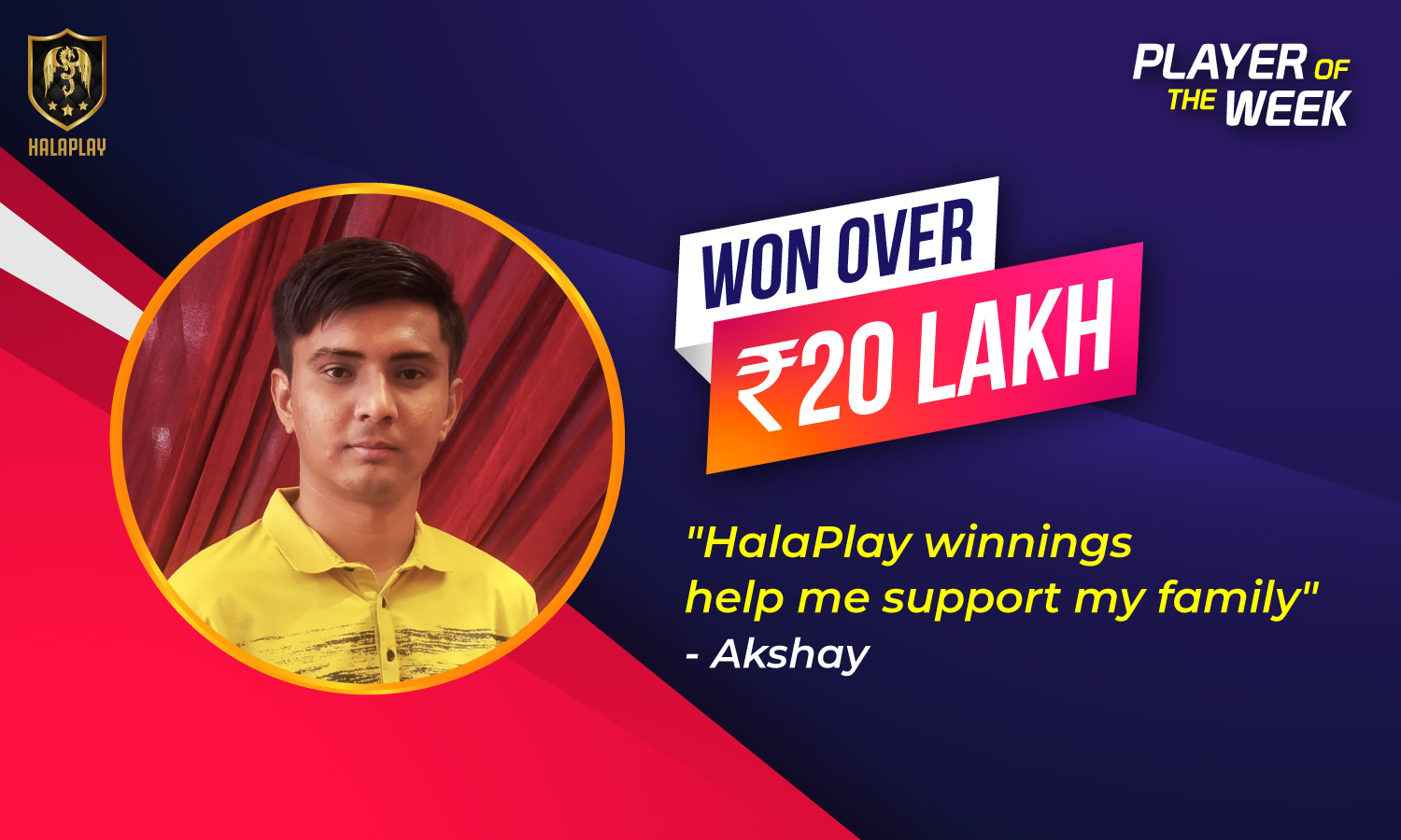 HalaPlay fantasy sports player Akshay Patel